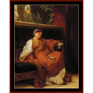 Lesbia Weeping - Alma Tadema cross stitch pattern by Cross Stitch Collectibles | Crafting | Cross-Stitch | Other