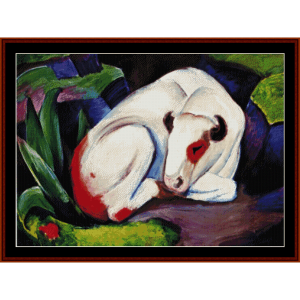 steer - franz marc counted cross stitch pattern by cross stitch collectibles