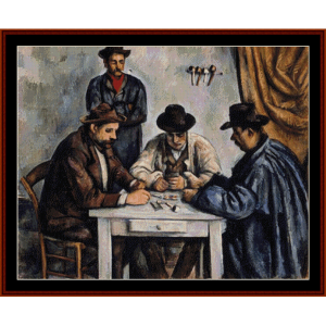 The Card Players - Cezanne counted cross stitch download | Crafting | Cross-Stitch | Other