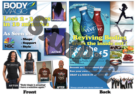 print ready design for ardyss promotional flyers