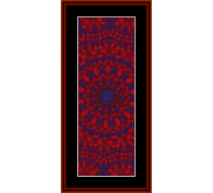 fractal 290 bookmark cross stitch pattern by cross stitch collectibles