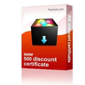 500 discount certificate