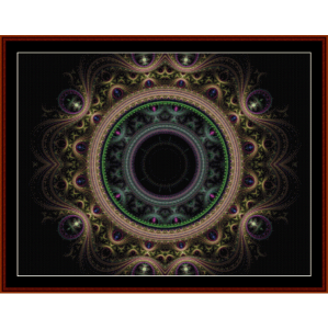 fractal 288 cross stitch pattern by cross stitch collectibles
