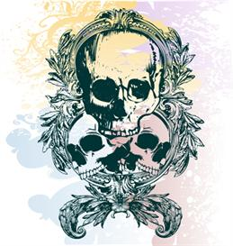 vector skulls illustration