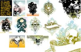 Vector skull illustrations set 1 | Photos and Images | Digital Art