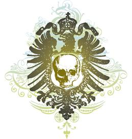 skull shield vector illustration