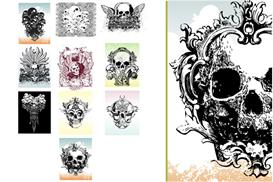 Vector skulls illustrations set 2 | Photos and Images | Digital Art