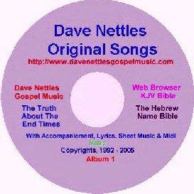 dave nettles, album 1, 12 original songs, w acc