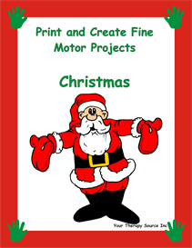 print and create fine motor christmas