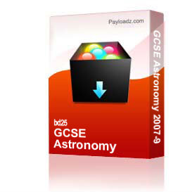 GCSE Astronomy 2007-9 | Other Files | Documents and Forms
