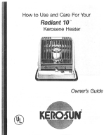 kero-sun radiant 10 kerosene heater owner's guide
