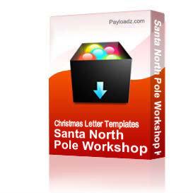 santa north pole workshop kit
