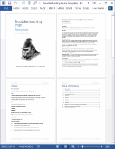 troubleshooting guide template (ms word)