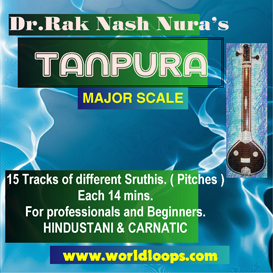 indian tanpura bgm - major scale