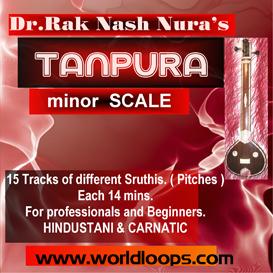 indian tanpura bgm - minor  scale
