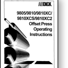AB DICK 9810 Operator's and Parts Manual | Other Files | Documents and Forms