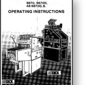 AB DICK 9870 Operator's and Parts Manual | Other Files | Documents and Forms