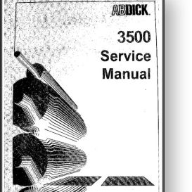 AB DICK Century 3500 Service Manual | Other Files | Documents and Forms