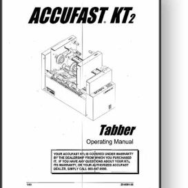 Accufast KT2 Mail Tabber Operator's Manual | Other Files | Documents and Forms