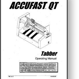 accufast qt mail tabber operator's manual