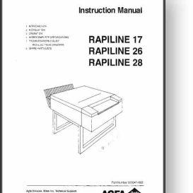 agfa rapiline 17 + 26 + 28 operator's manual