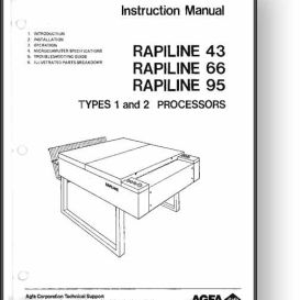 AGFA Rapiline 43 + 66 + 95 Operator's Manual | Other Files | Documents and Forms