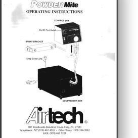 Airtech PowderMite Powder Spray Operator's Manual | Other Files | Documents and Forms