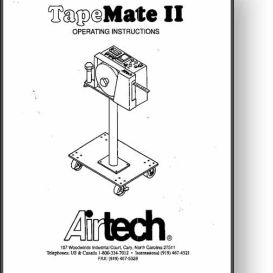 Airtech TapeMate II Operator's Manual | Other Files | Documents and Forms