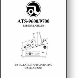 Astro ALS-9600 / 9700 Tabber / Labeler Manual | Other Files | Documents and Forms