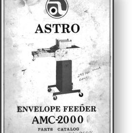 astro amc-2000 envelope feeder parts manual