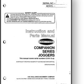 challenge champion paper jogger manual