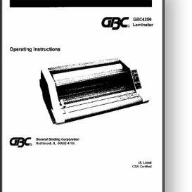 gbc 4250/425/426 laminator operator's & parts manual