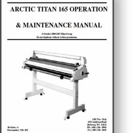 GBC Artic Titan 165 Laminator Operator's Manual | Other Files | Documents and Forms