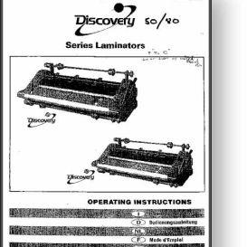 gbc discovery series laminator operator's manual