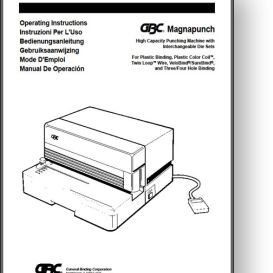 GBC Magnapunch - Operator's + Parts Manual | Other Files | Documents and Forms
