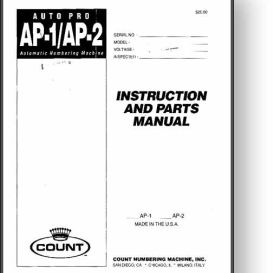 Count Auto Pro AP-1 / AP-2 Numbering Manual | Other Files | Documents and Forms