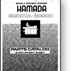 Hamada 500CDA / 600CD Parts Manual | Other Files | Documents and Forms