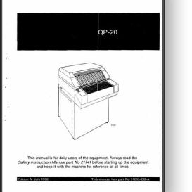 heidelberg qp-20 film processor operator's manual