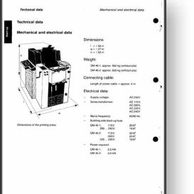 heidelberg quickmaster 46-2 operator's and parts manual