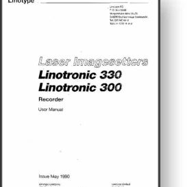 linotype linotronic 300 / 330 laser imagesetter manual