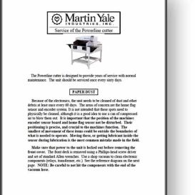 martin yale powerline 215 / 265 paper cutter manual