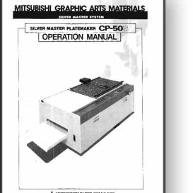 mitsubishi cp-50s master platemaker operator's manual