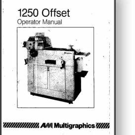 multi 1250 operator's and service manual