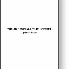multi 1850n operator's manual