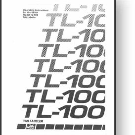 Rena TL-100 Tab Labeler Operator's Manual | Other Files | Documents and Forms