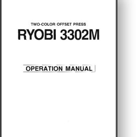 ryobi 3302 operator s manual other files documents and forms rh store payloadz com Ryobi 3302H Manual Ryobi 3302 Printing Press
