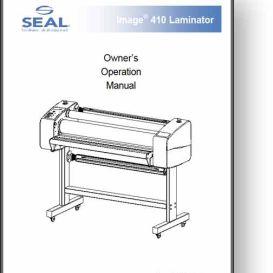 seal image 410 laminator operator's + service manual