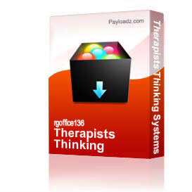Therapists Thinking Systems | Other Files | Documents and Forms