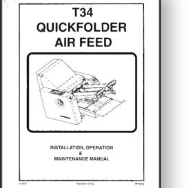 stahl t34 quickfolder operator's & installation manual
