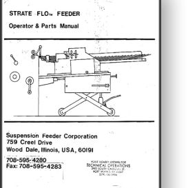 strate flo envelope feeder operator's & parts manual
